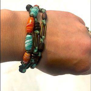 Lucky Brand beaded triple strand bracelet